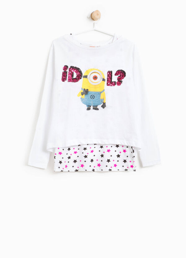 Crop T-shirt with Minions print and top | OVS