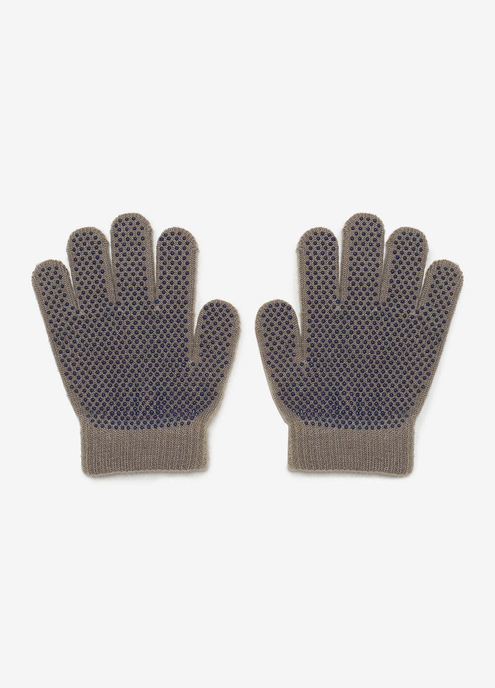 Solid colour gloves with rubber inserts
