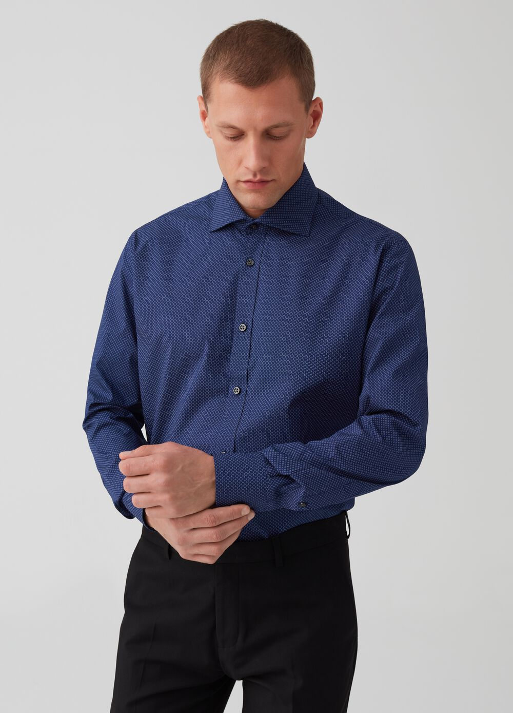 100% cotton regular-fit shirt with print