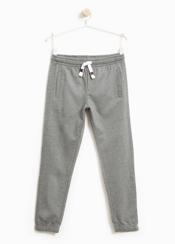 Cotton and viscose joggers with drawstring | OVS