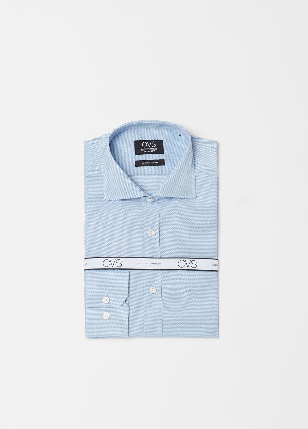 Slim-fit shirt with micro speckled pattern