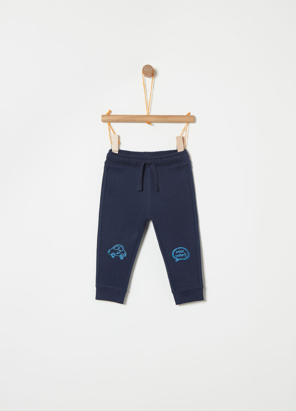 100% cotton printed joggers