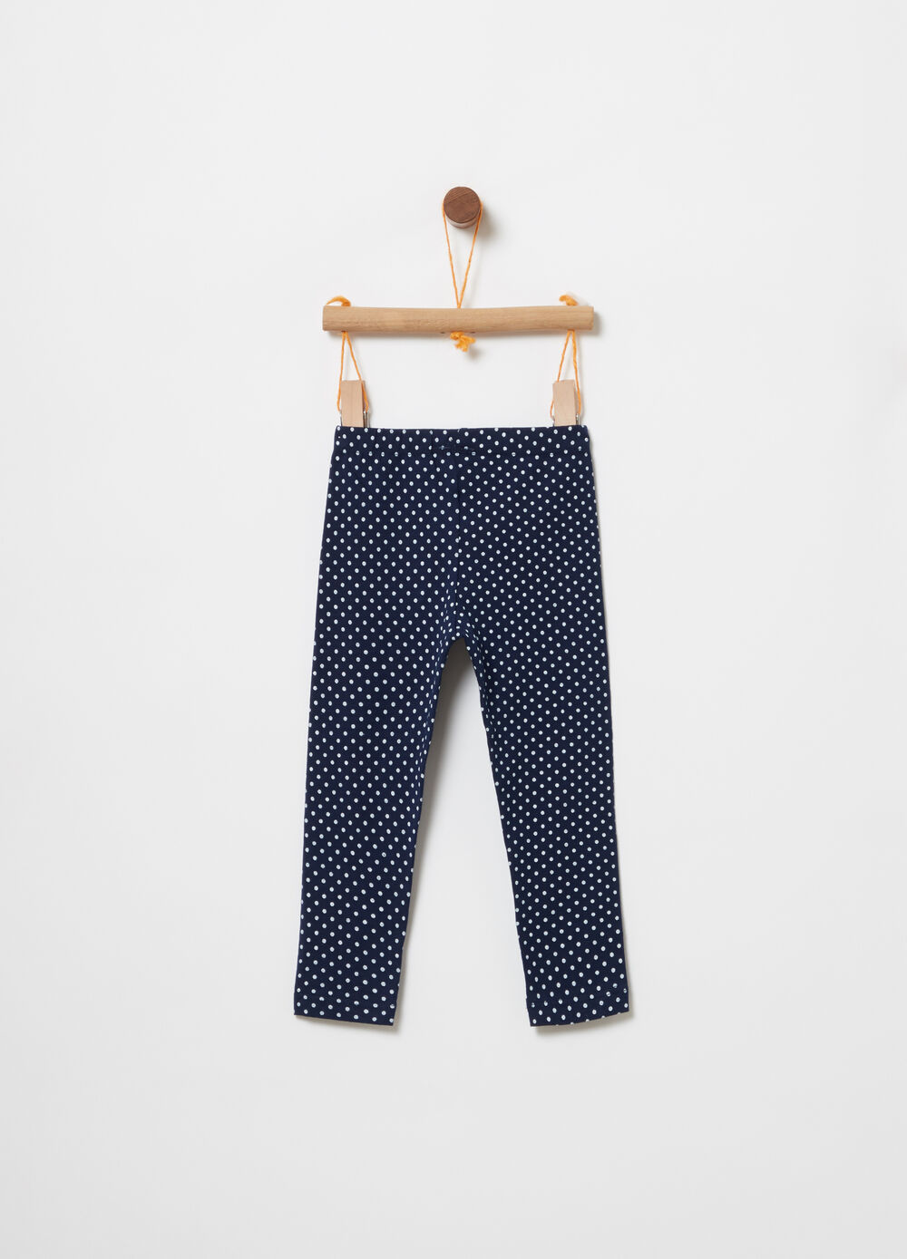 Leggings cotone organico stretch a pois