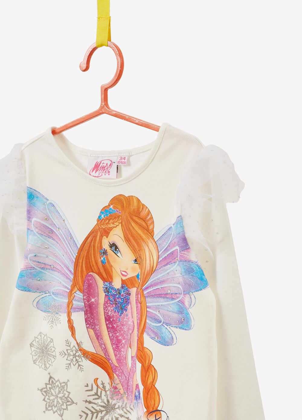 T-shirt with Winx print and long sleeves