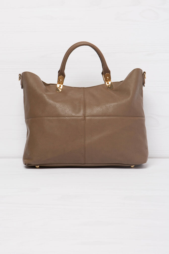 Solid colour handbag