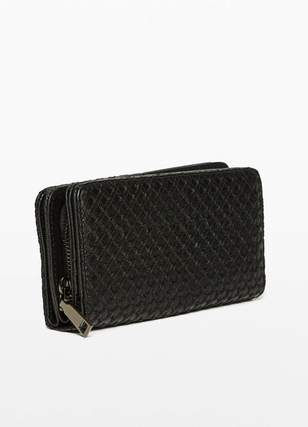 Purse with three compartments