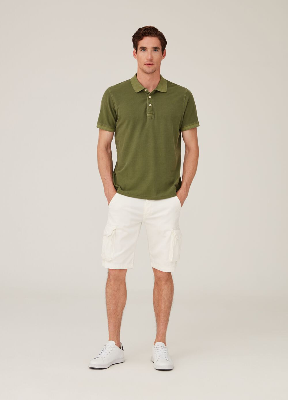 Shorts chino cargo regular fit stretch