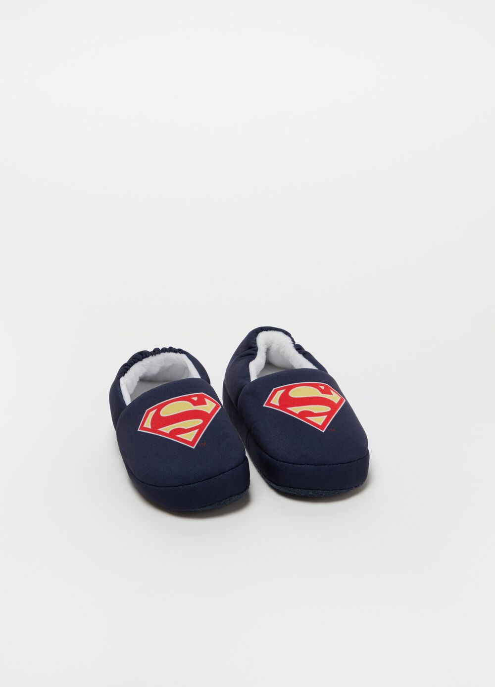 Slippers with Superman print