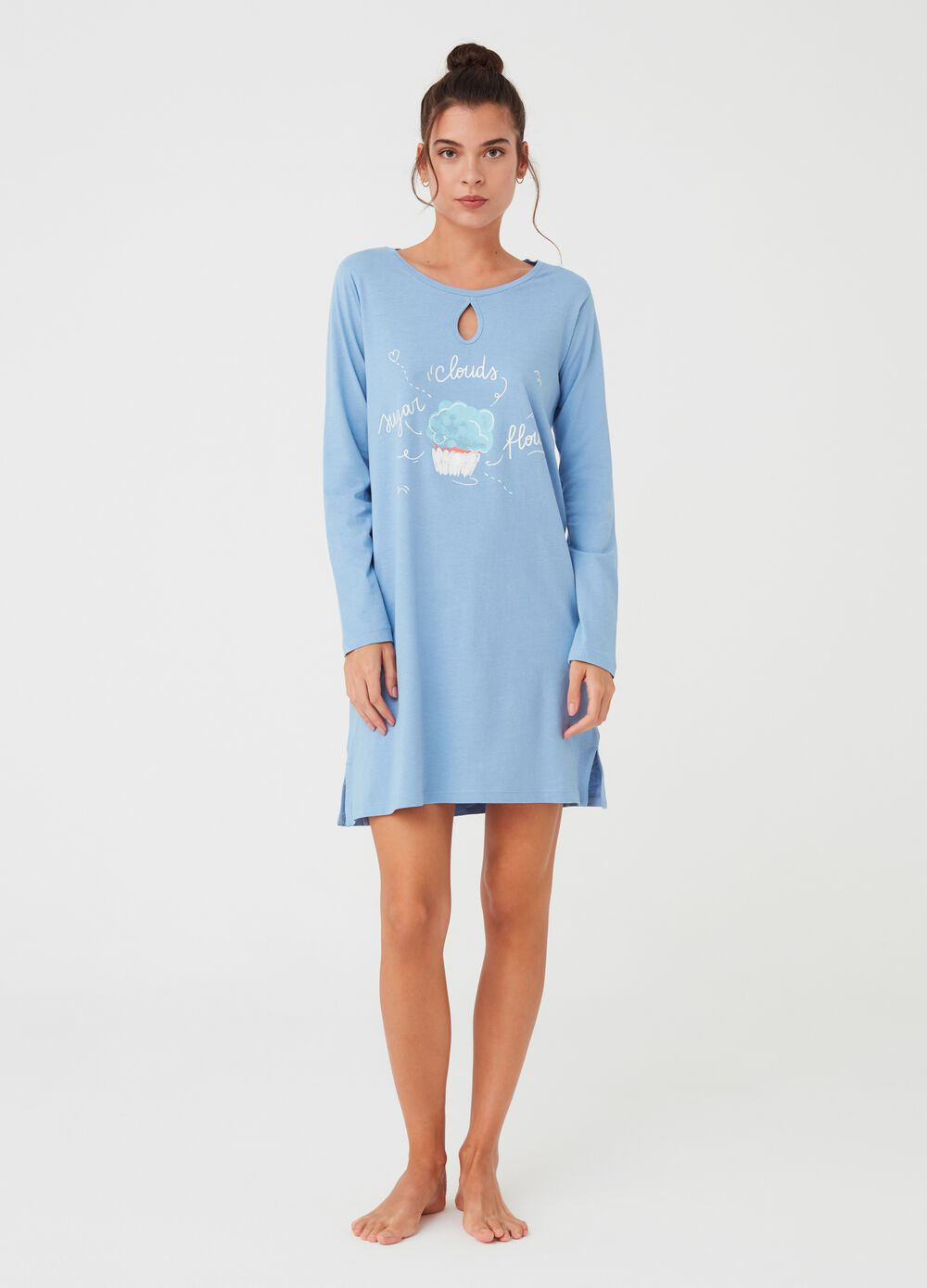100% organic cotton nightshirt with print