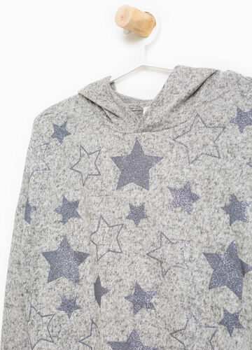 Stretch pullover with glitter stars
