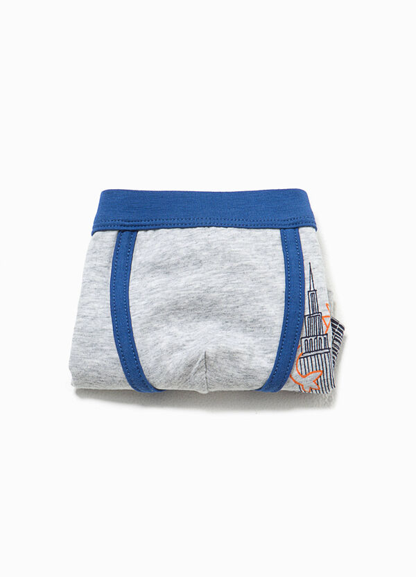 Boxer in cotone stretch con stampa | OVS