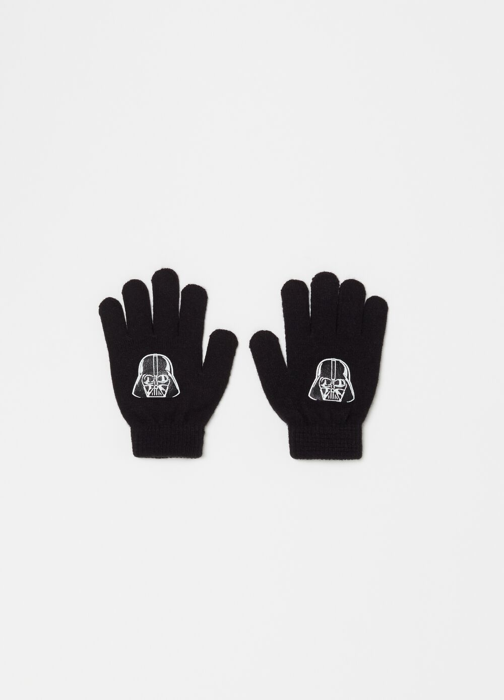 Knitted Star Wars gloves with ribbing