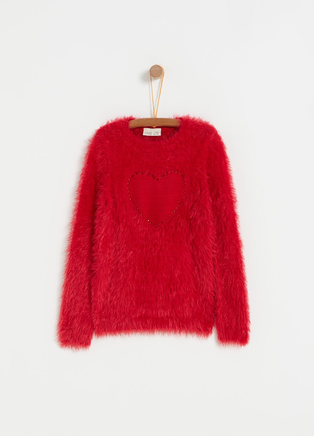 Oversize fur-effect top