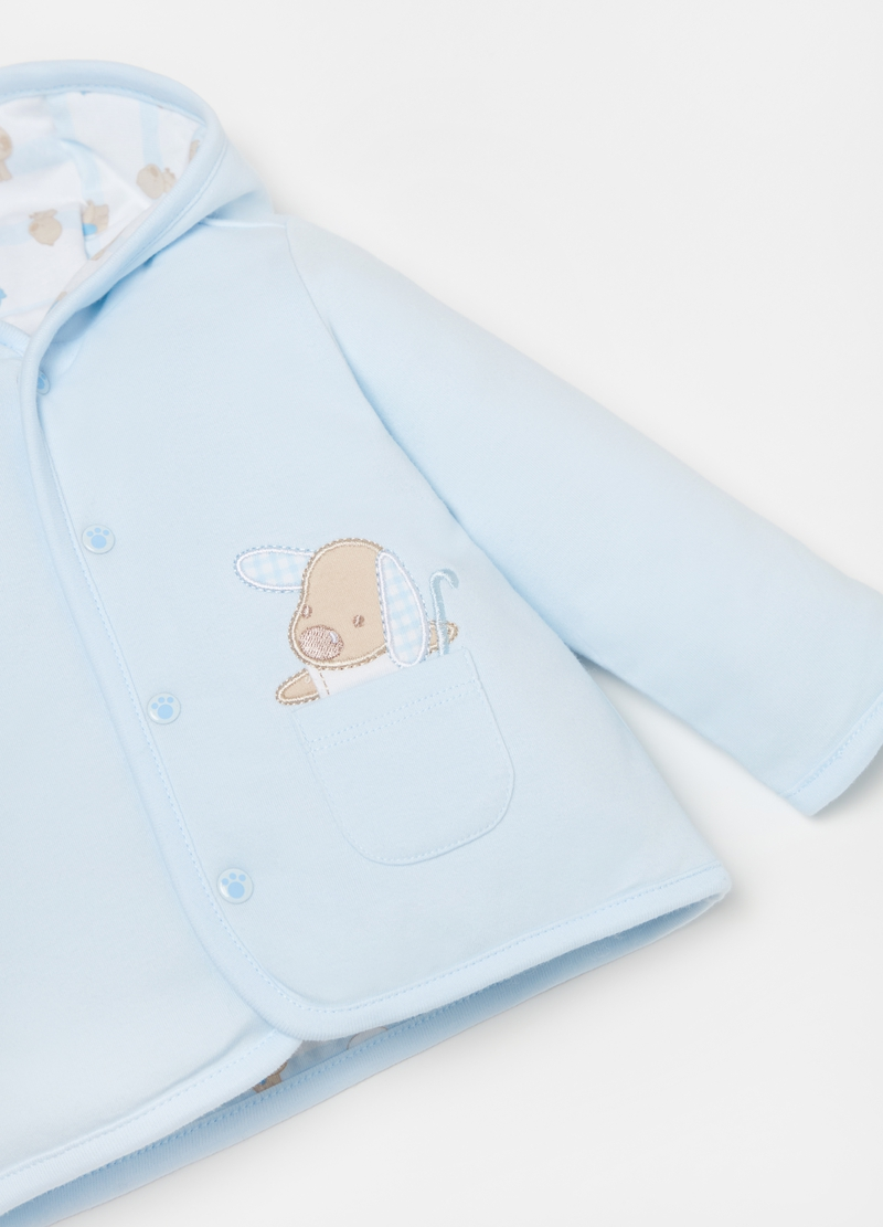 Padded cotton jacket with puppy image number null