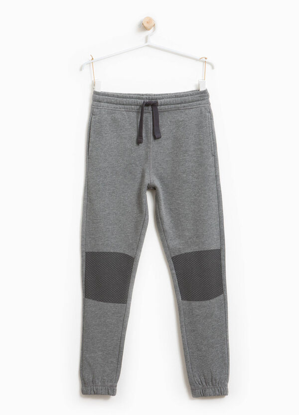 Joggers with polka dot inserts | OVS