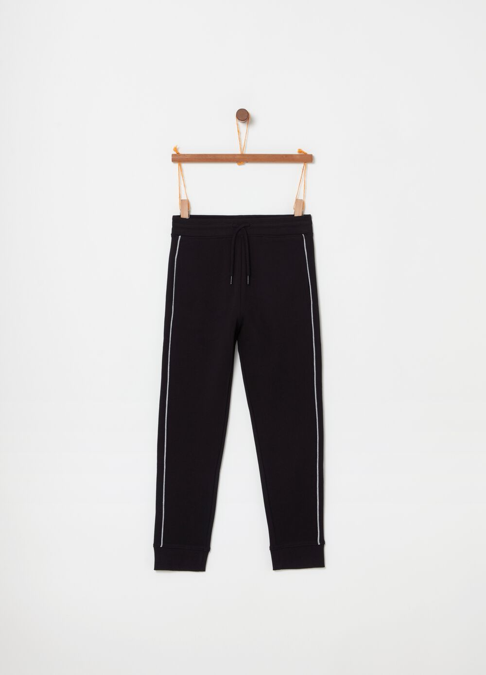 Pyjama trousers with contrasting edging