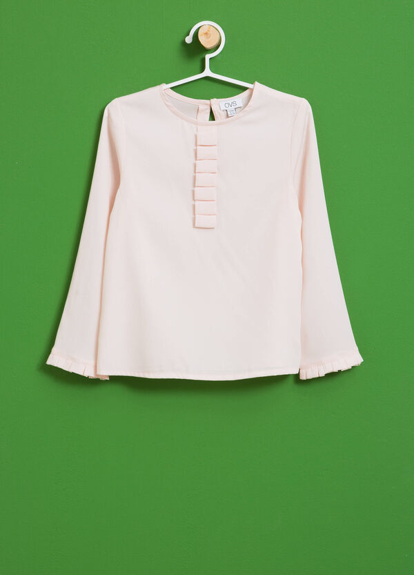 Blouse with round neck and flounce | OVS