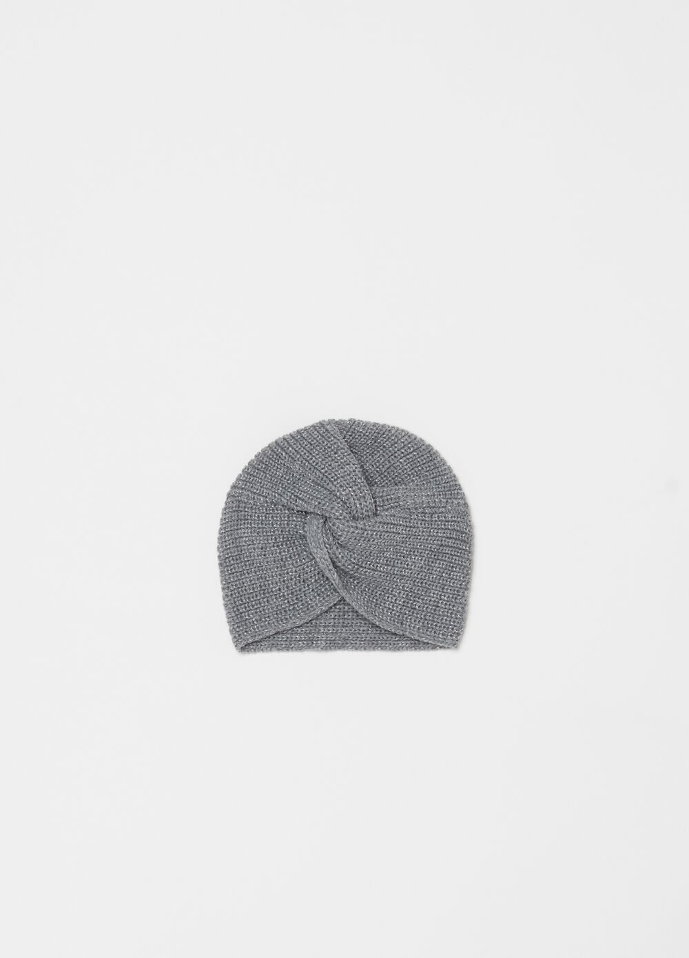 Knitted turban with lurex