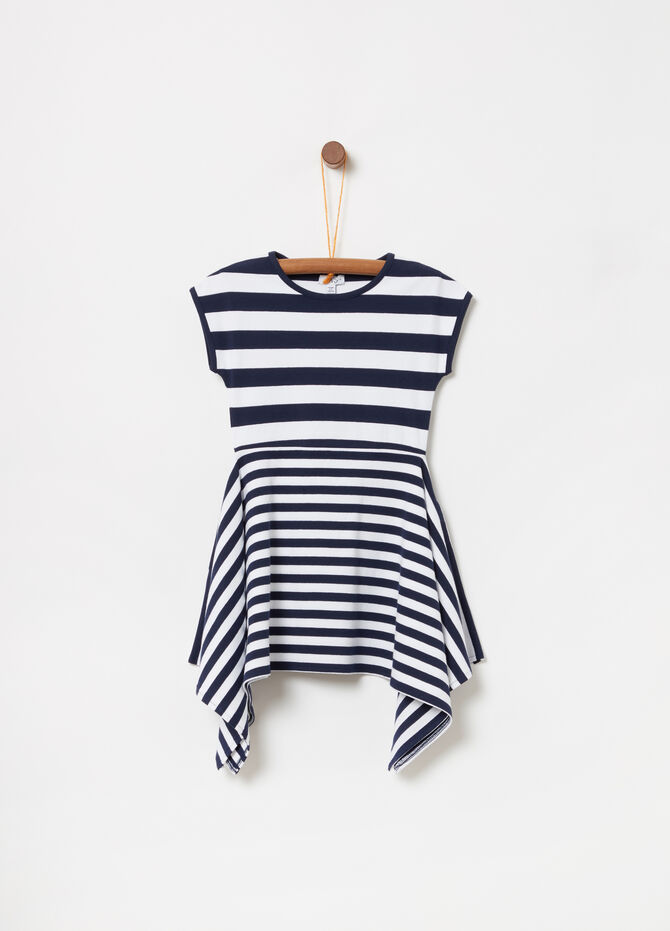 Sleeveless stretch striped dress