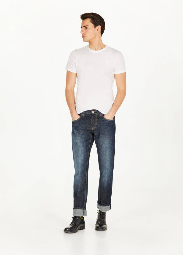 Jeans Straight Fit mit Whiskering