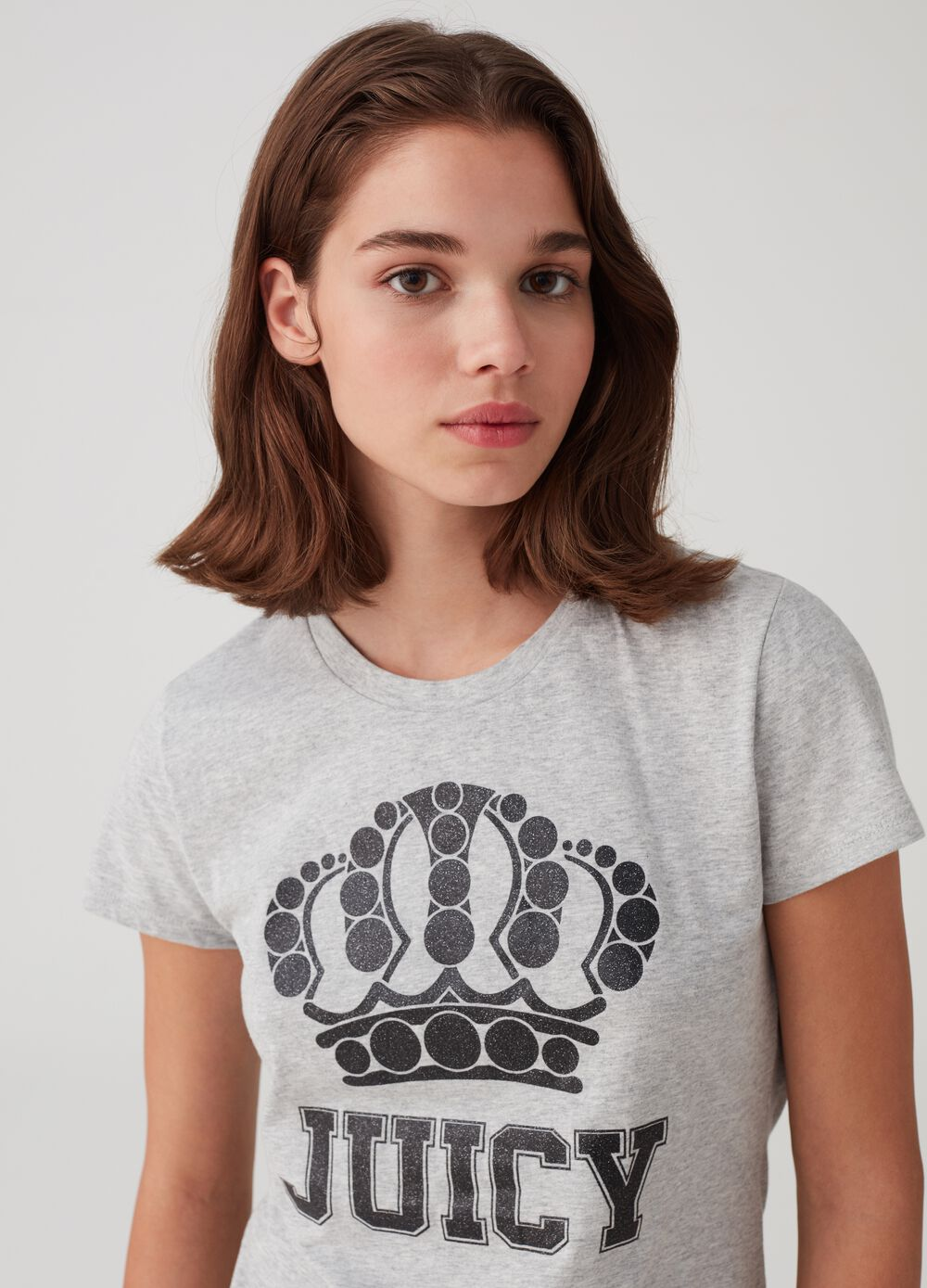 Mélange T-shirt in 100% cotton with print