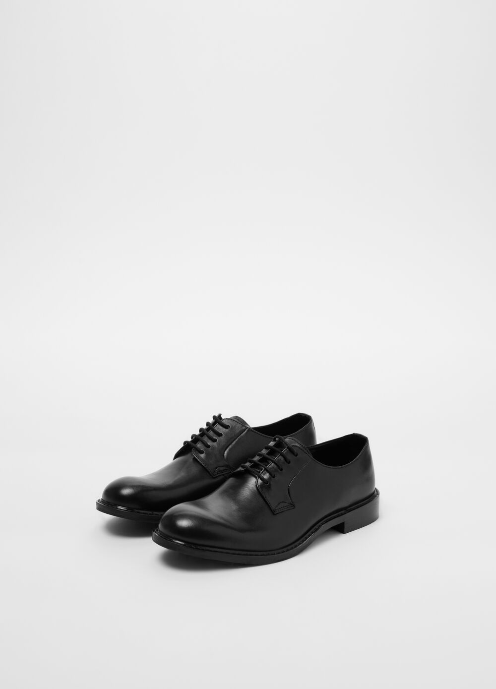 Genuine leather derby-style shoes