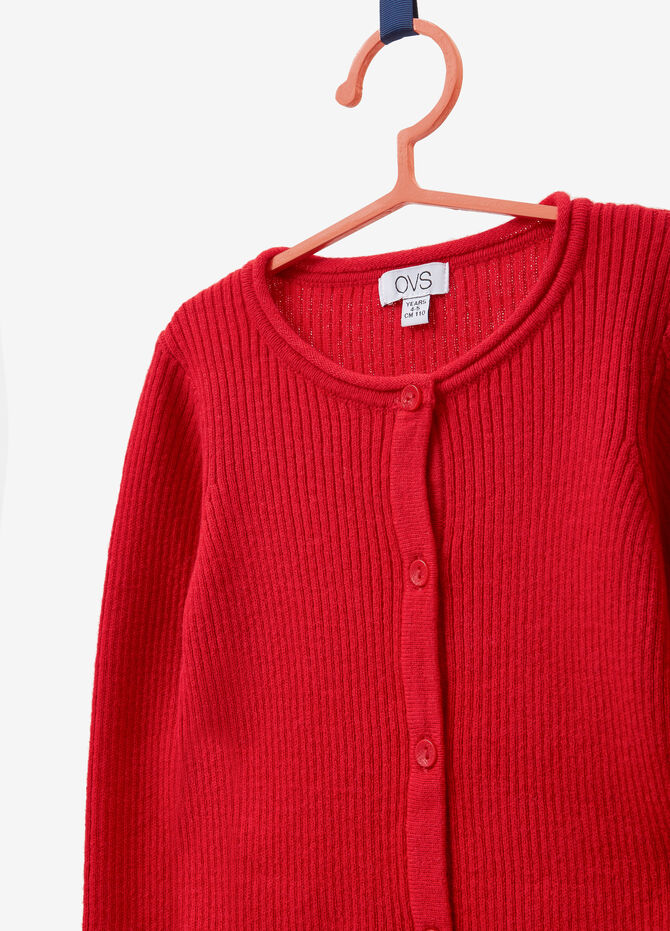 Cotton and cashmere cardigan with buttons