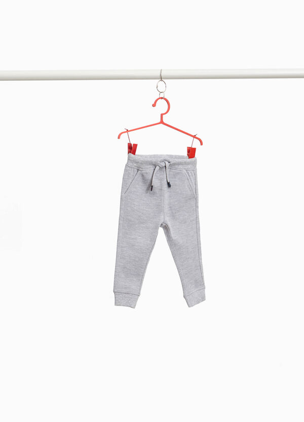 Cotton and viscose joggers