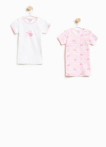 Two-pack undershirts with pattern