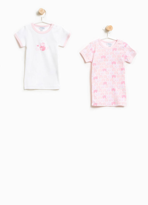 Two-pack undershirts with pattern | OVS