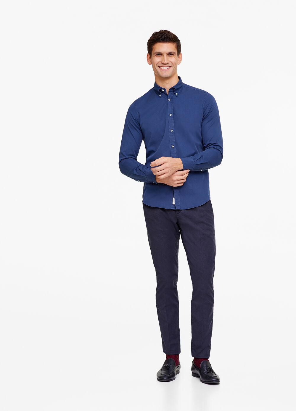 Rumford shirt with button-down collar