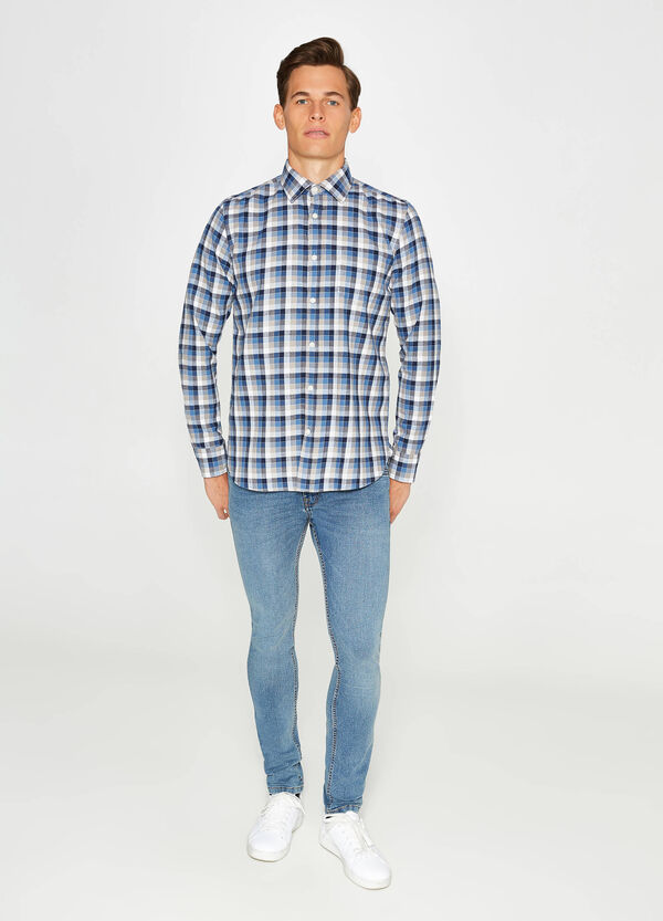 Check casual shirt with small pocket
