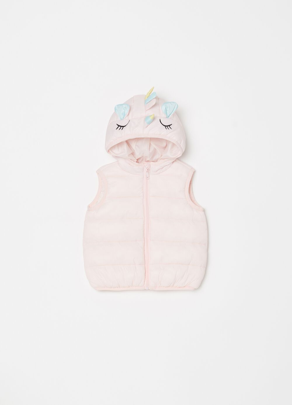 Quilted gilet with Unicorn print