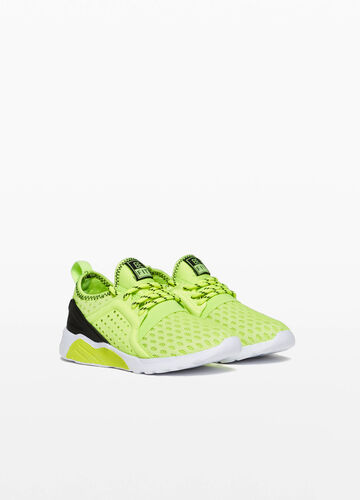 Sneakers with mesh openwork upper