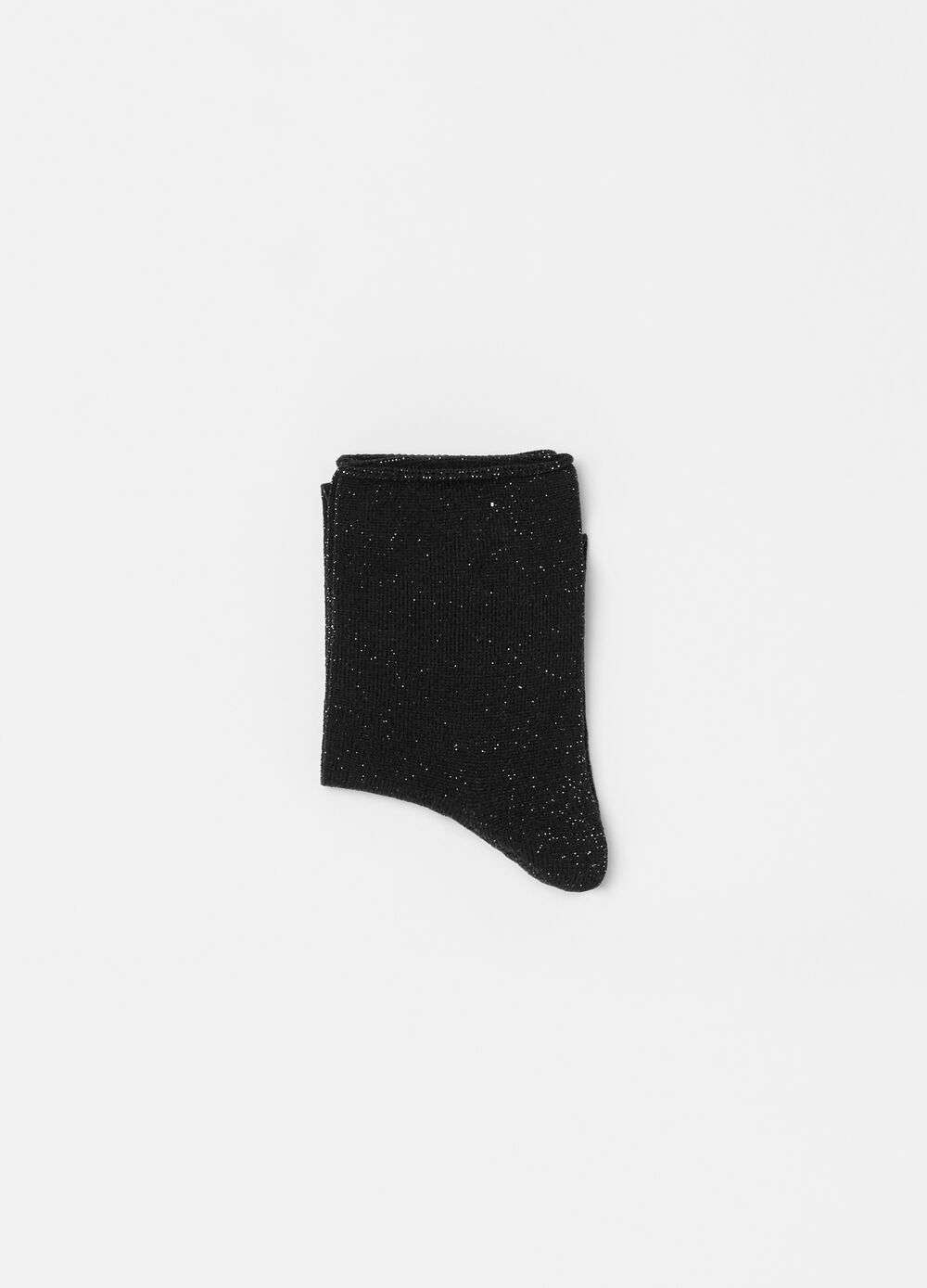 Stretch short socks with lurex