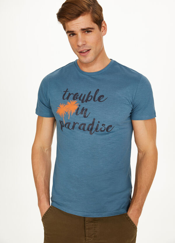 T-shirt in cotone stampa lettering