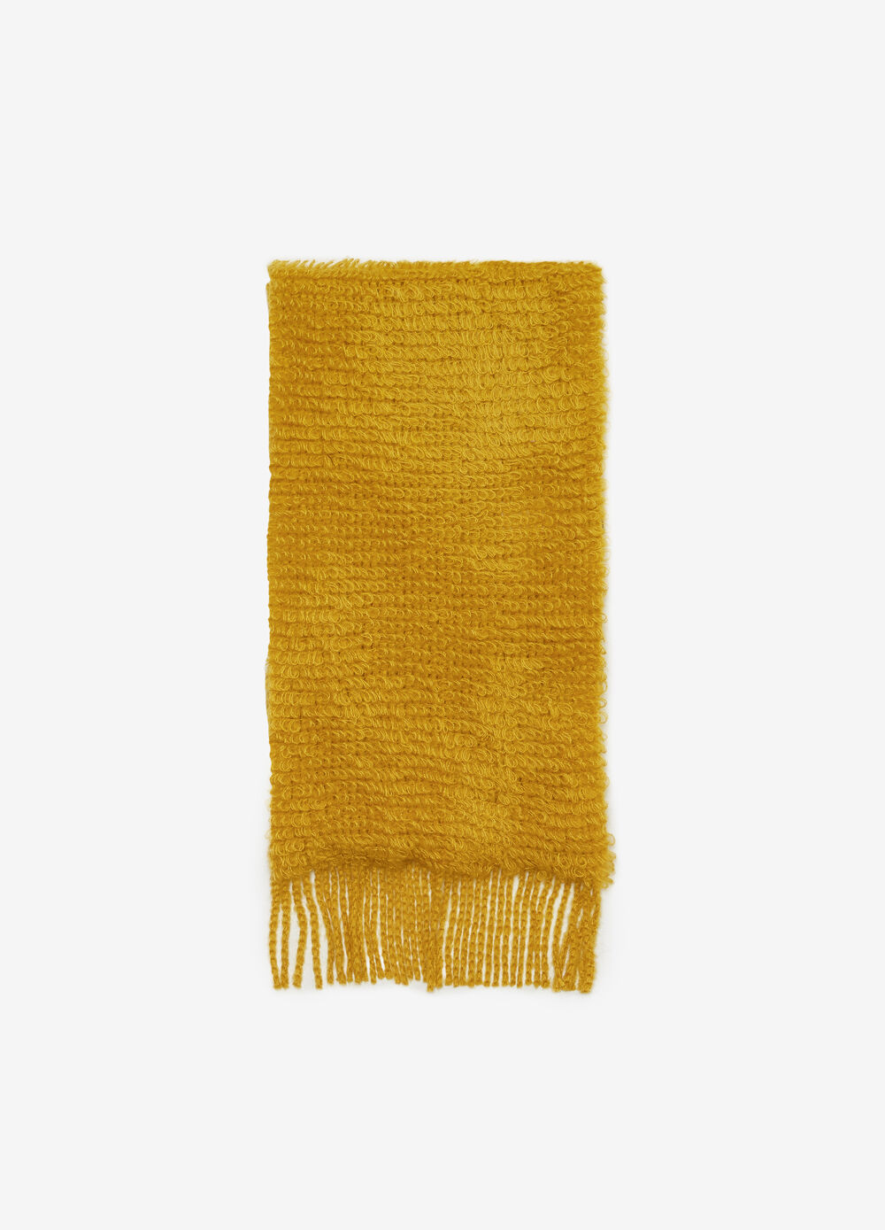 Needle-tufted-effect rectangular scarf