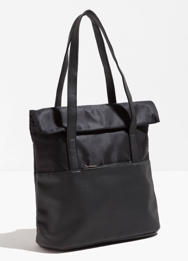Solid colour shopping bag with two handles | OVS