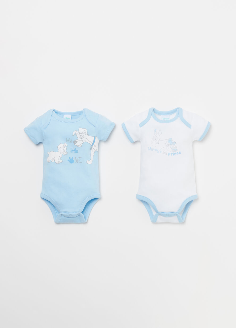 Two-tone BCI cotton bodysuit with Disney print