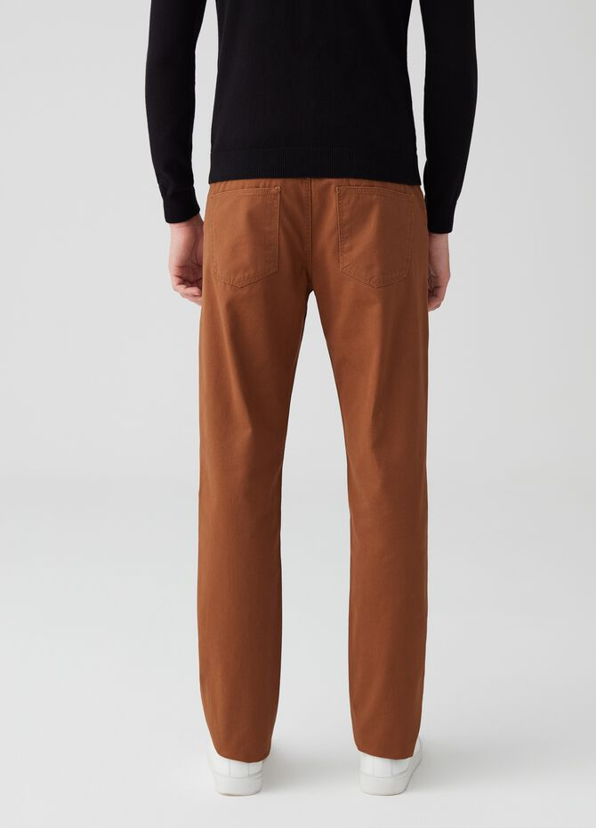 Five-pocket 100% cotton trousers