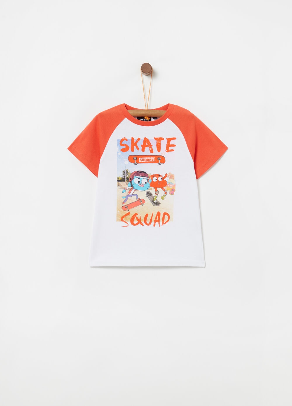 Two-tone T-shirt with Gumball print