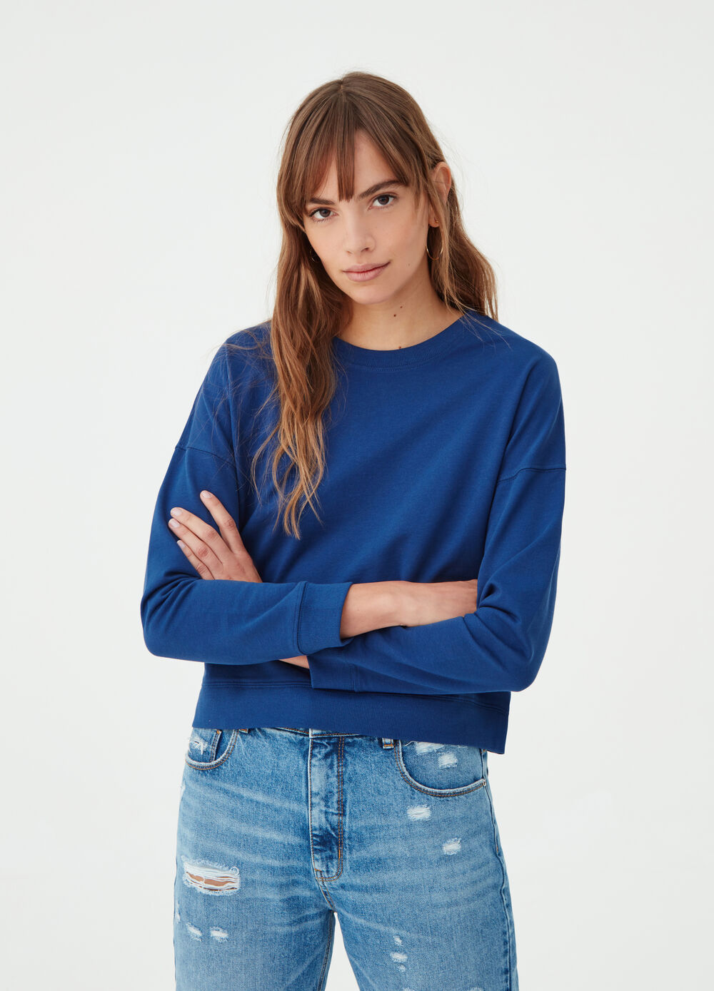 BCI sweatshirt with drop shoulder sleeves