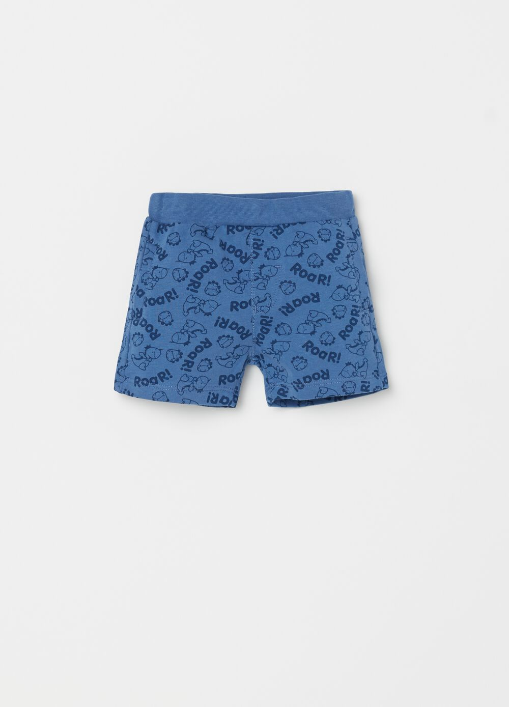 Dinosaur patterned shorts in 100% cotton