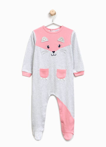 Organic cotton sleepsuit with patch
