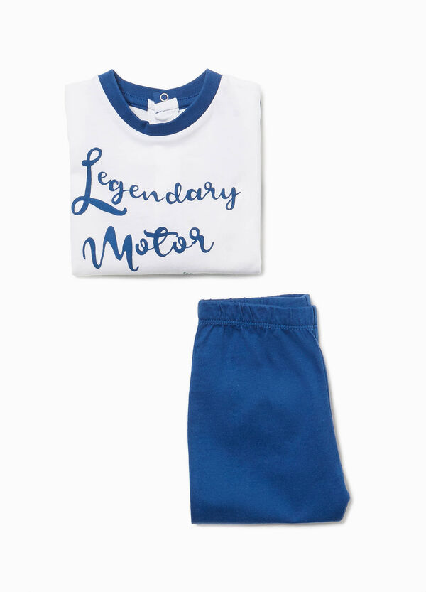 100% cotton pyjamas with motrbike print