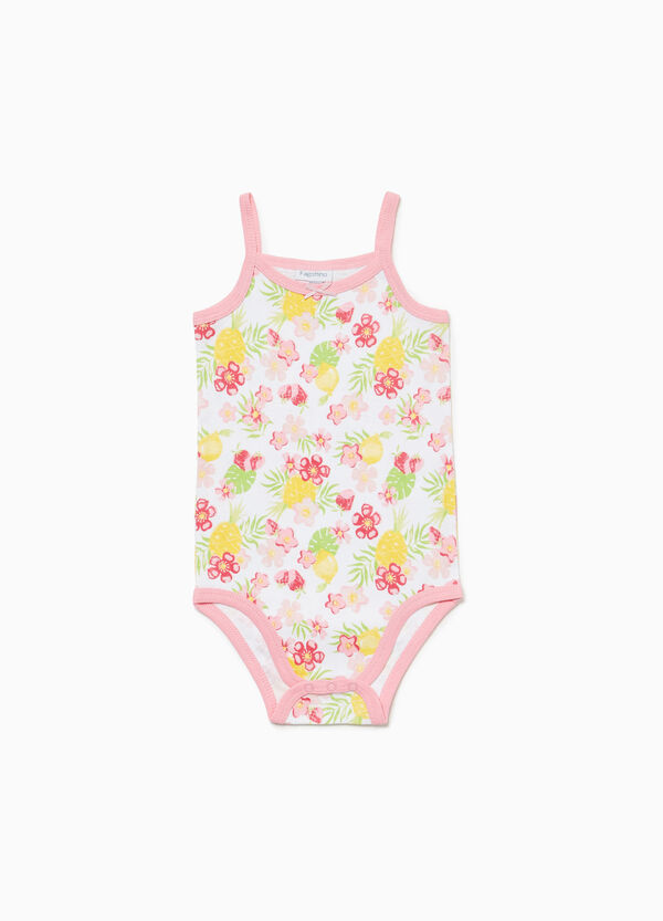 Two-pair pack solid colour and floral bodysuits