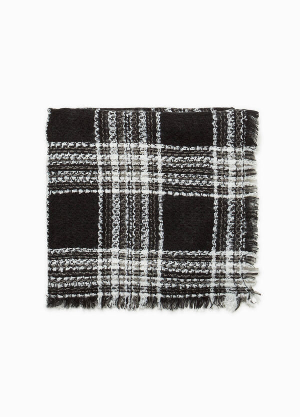 Check scarf with fringed edges | OVS