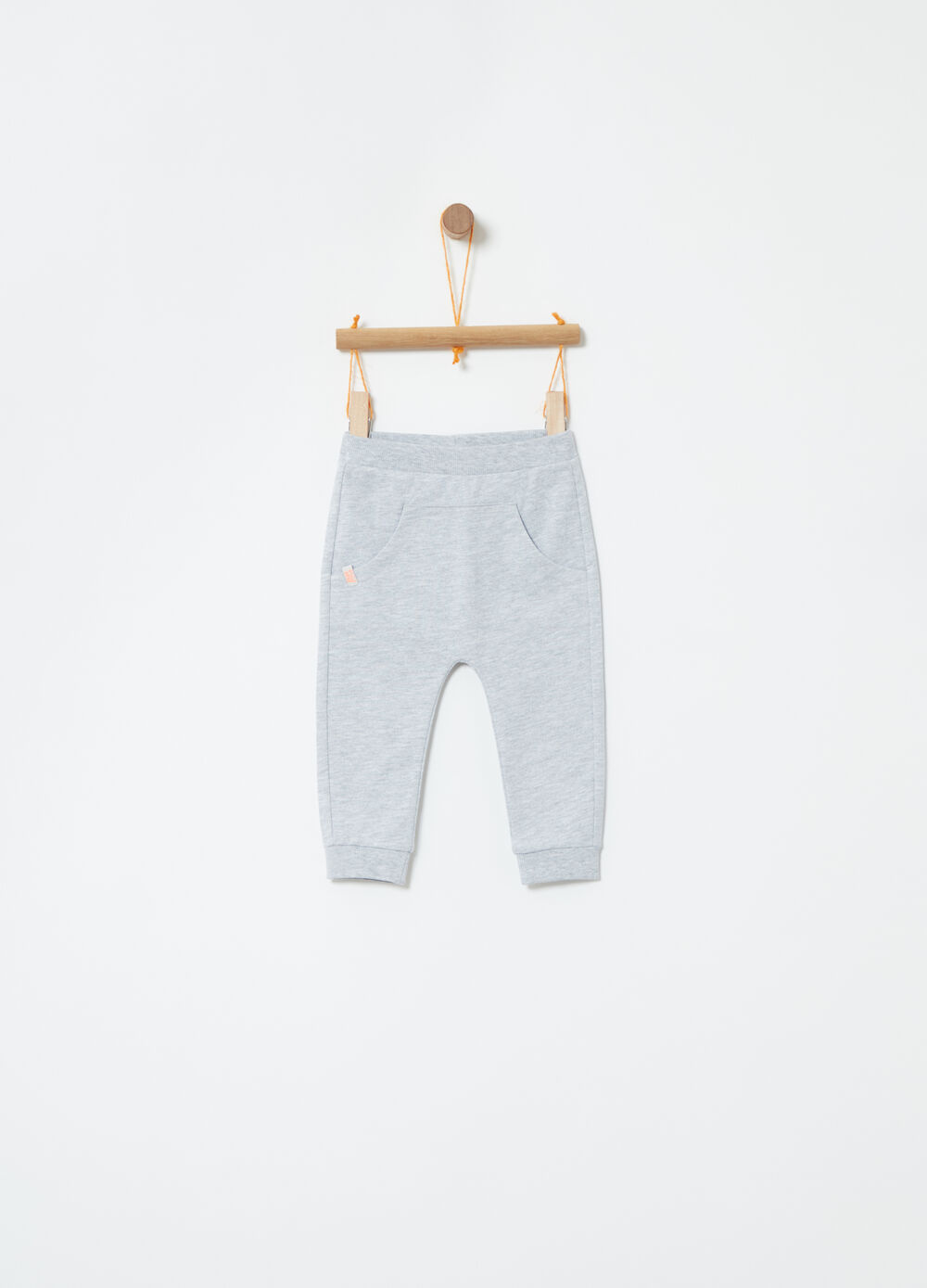Trousers in French Terry with pouch pocket