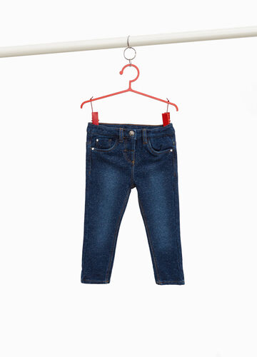 Stretch jeans with lurex and embroidery