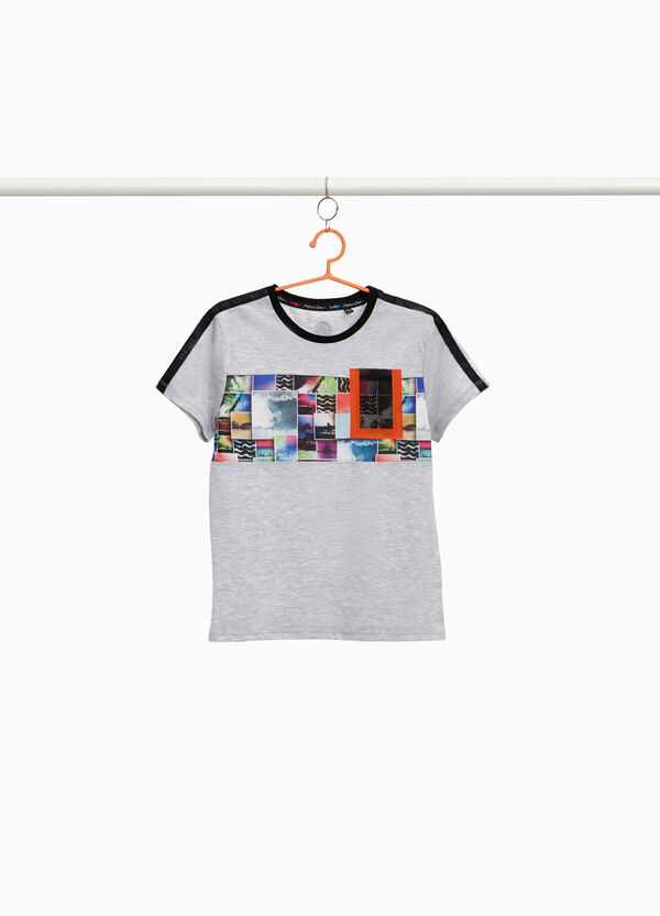 Collage print T-shirt by Maui and Sons